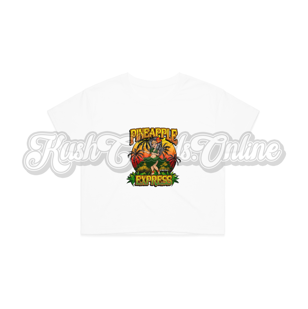 Pineapple Express Crop Top Tee