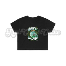 Load image into Gallery viewer, White Widow Crop Top Tee