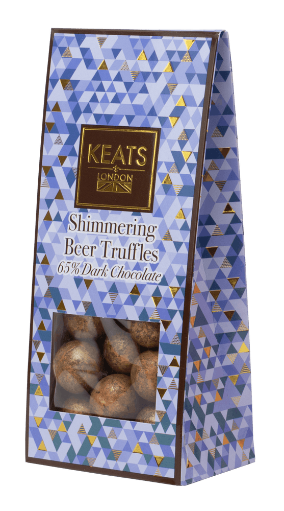 Beer Flavoured Dark Chocolate Truffles 117g - Keats Chocolatier London