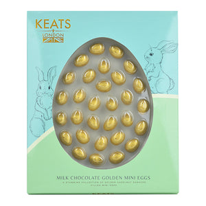 Milk Chocolate Golden Mini Eggs 30 Pieces Gift Box - Keats Chocolatier