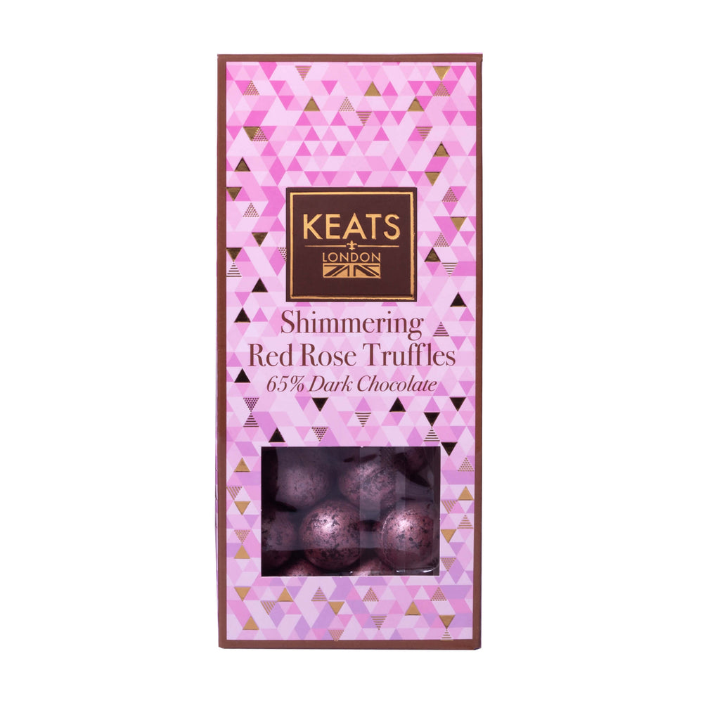 Keats Dark Chocolate Rose Truffles Valentines Gift Box 117g - Keats Chocolatier London