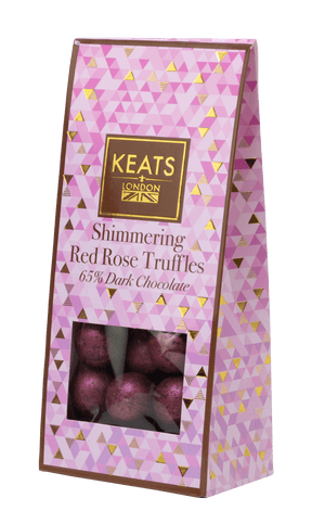 Load image into Gallery viewer, Keats Dark Chocolate Rose Truffles Valentines Gift Box 117g - Keats Chocolatier London