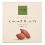 Keats Hazelnut Ganache Filled Cocoa Beans 150g - Keats Chocolatier London