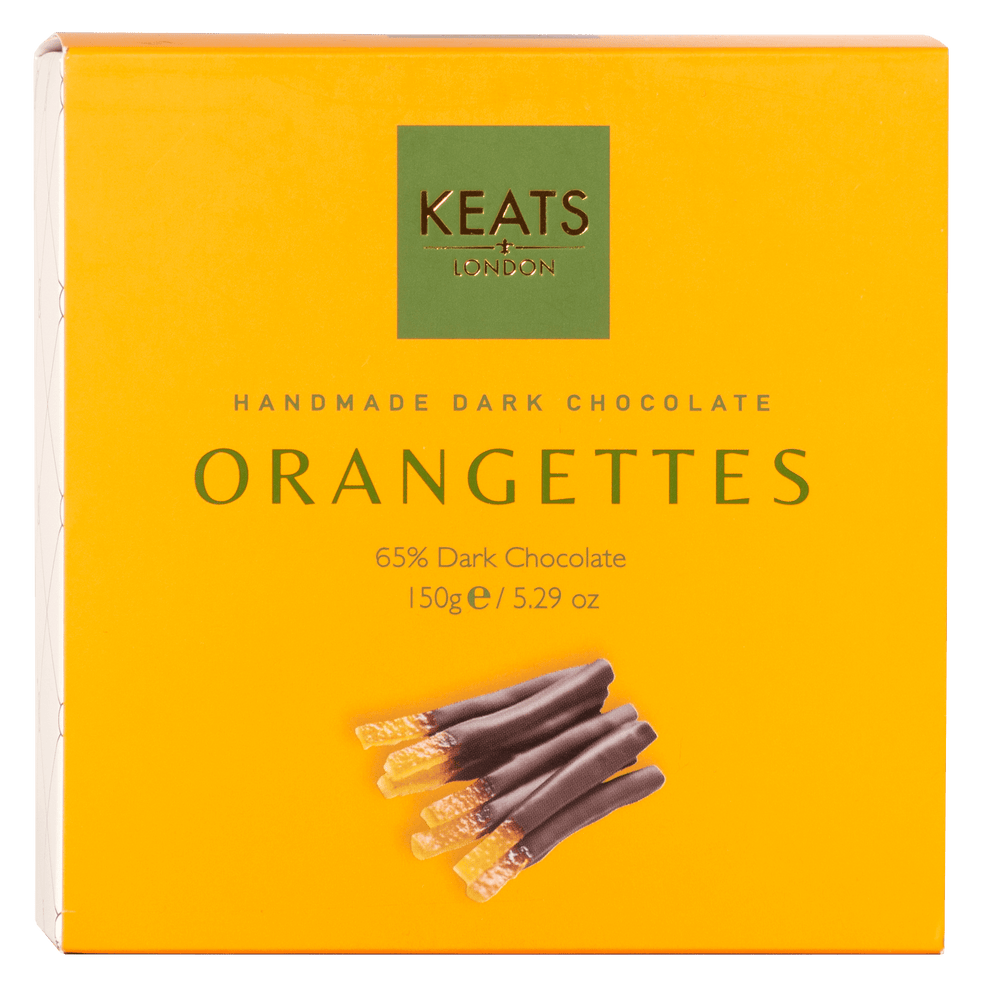 Keats Dark Chocolate Orangettes 150g - Keats Chocolatier London