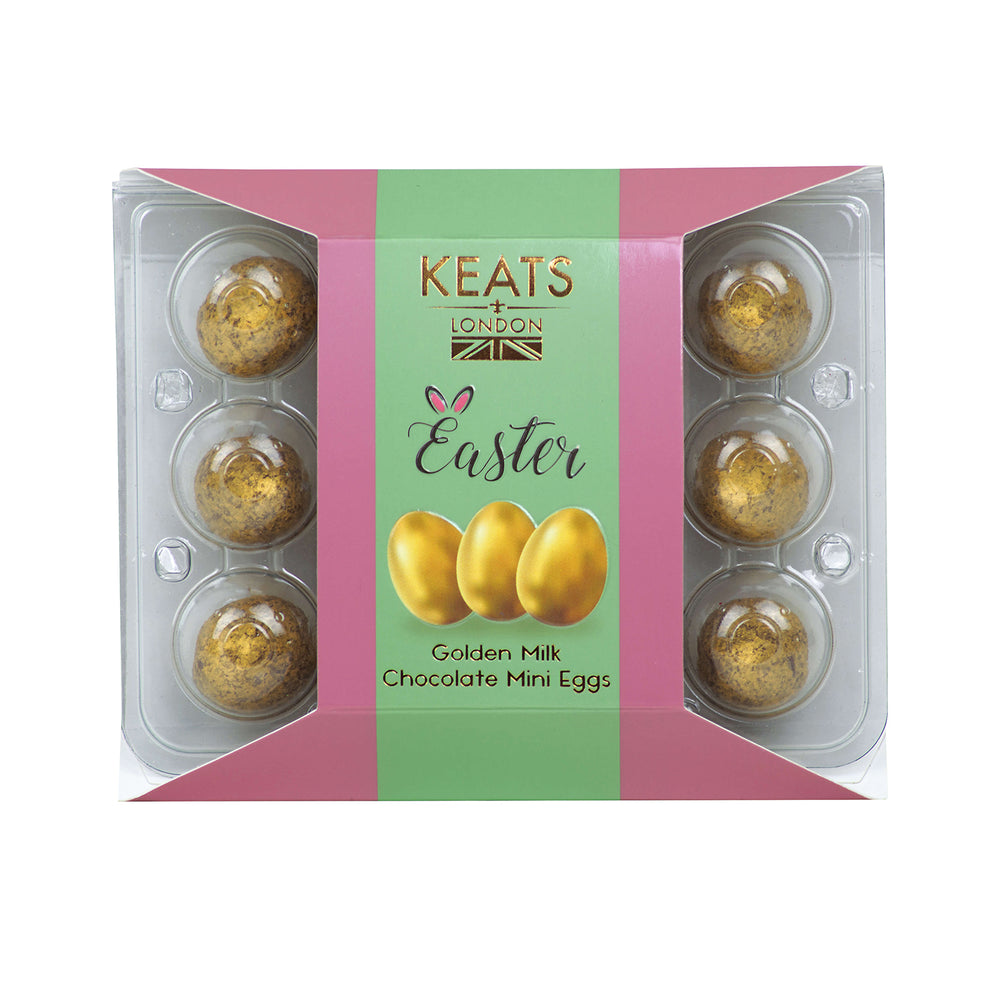 Keats Golden Mini eggs, Mini Gift Box 60g - Keats Chocolatier London