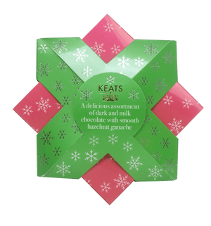 Load image into Gallery viewer, Keats Christmas Chocolate Treat Star Gift Box 150g - Keats Chocolatier London