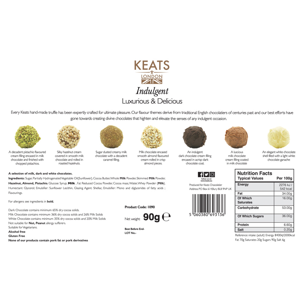 Load image into Gallery viewer, An Exquisite Truffle Selection, 8 pieces, 90g - Keats Chocolatier London