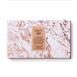 Load image into Gallery viewer, Keats Luxury Chia Seed and Fruit Chocolate selection, 8pcs, 85g - Keats Chocolatier London