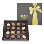 Keats Original Chocolate Selection, Bow Box 16pcs - Keats Chocolatier London