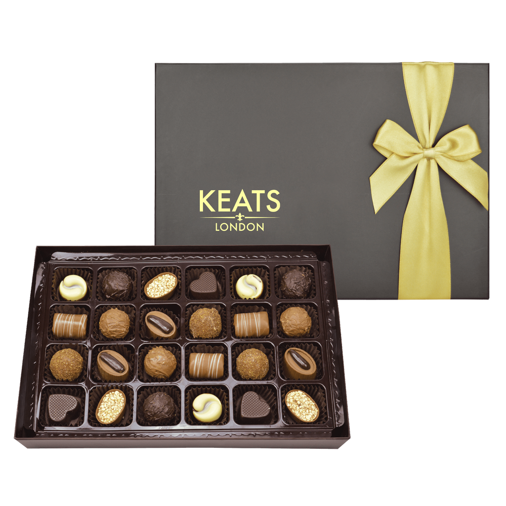 Keats Original Chocolate Selection, Bow Box 24pcs - Keats Chocolatier London