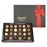 Keats Original Truffle Selection, Bow Box 24pcs - Keats Chocolatier London