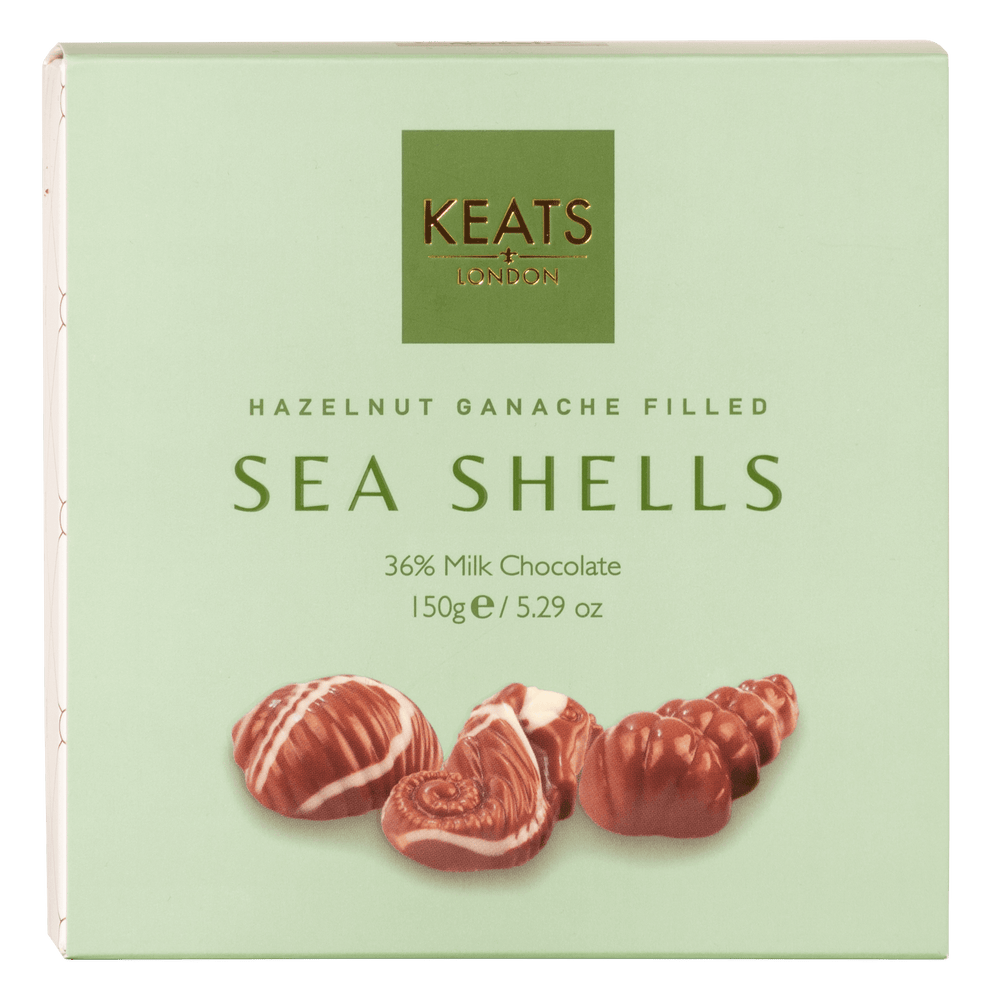 Sea Shells with Hazelnut Ganache - Keats Chocolatier