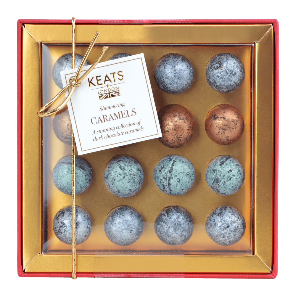 Shimmering Dark Chocolate Truffles Mini Gift Box - Keats Chocolatier