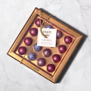 Keats Shimmering Dark Chocolate Truffles Mini Gift Box 104g - Keats Chocolatier London