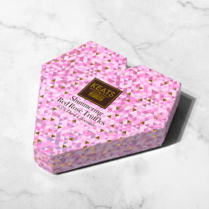 Load image into Gallery viewer, Shimmering Dark Chocolate Truffles, Rose flavour. Heart Box - Keats Chocolatier