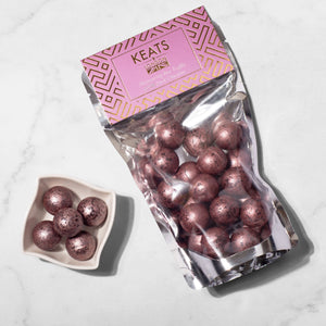 Load image into Gallery viewer, Dark Chocolate Shimmering Truffles Rose Flavoured 140g - Keats Chocolatier London