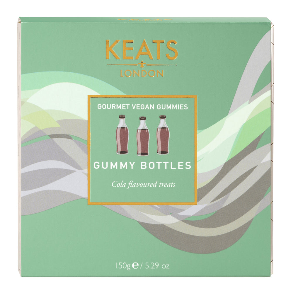 Keats Gourmet Vegan Sweets Gift Box Cola Bottles 150g - Keats Chocolatier London