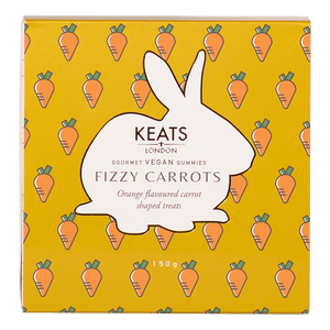 Keats Vegan Gummies - Fizzy Carrots - Keats Chocolatier London