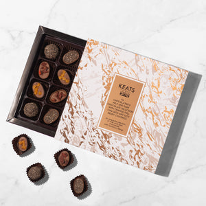 Load image into Gallery viewer, Luxury Chia Seed and Fruit Chocolate selection, 16pcs - Keats Chocolatier