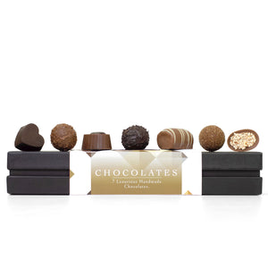 Luxury 7 Chocolate Selection, Handmade 7pcs Gift box - Keats Chocolatier