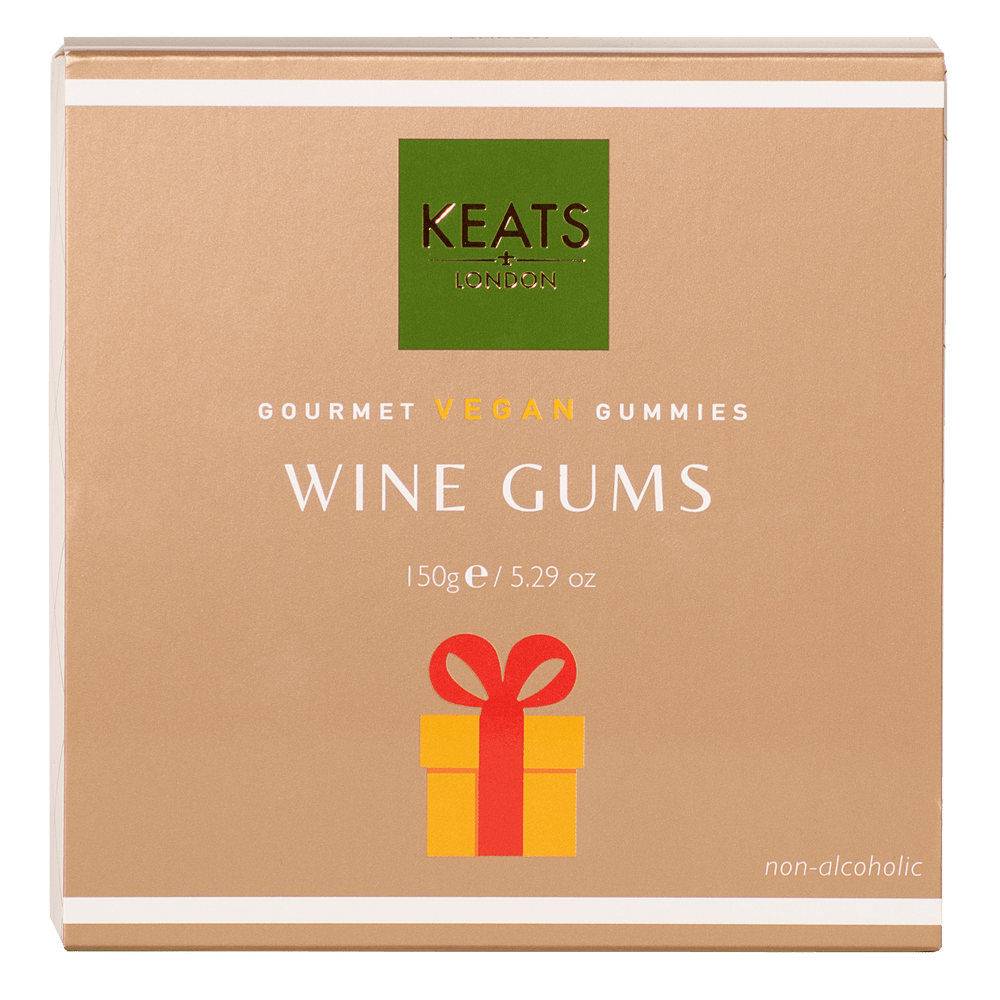 Keats Gourmet Vegan Gummies Gift Box Wine Gums 150g - Keats Chocolatier London