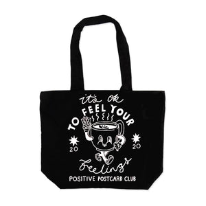 it's ok to feel your feelings large tote