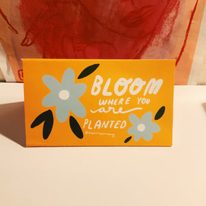 Bloom where you are planted positive post letter 3 pack