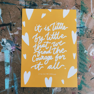 It is little by little postcard