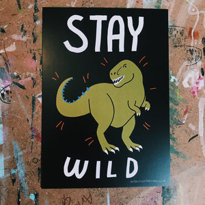 Child friendly - Stay Wild postcard