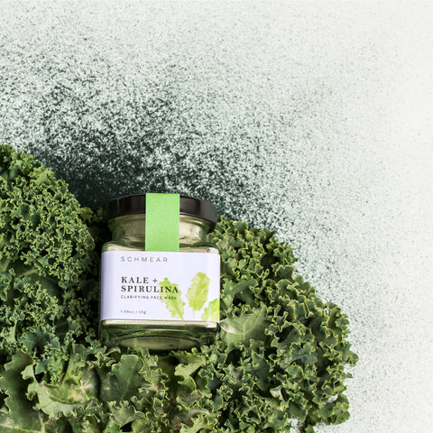 Clarifying Face Mask with Kale and Spirulina