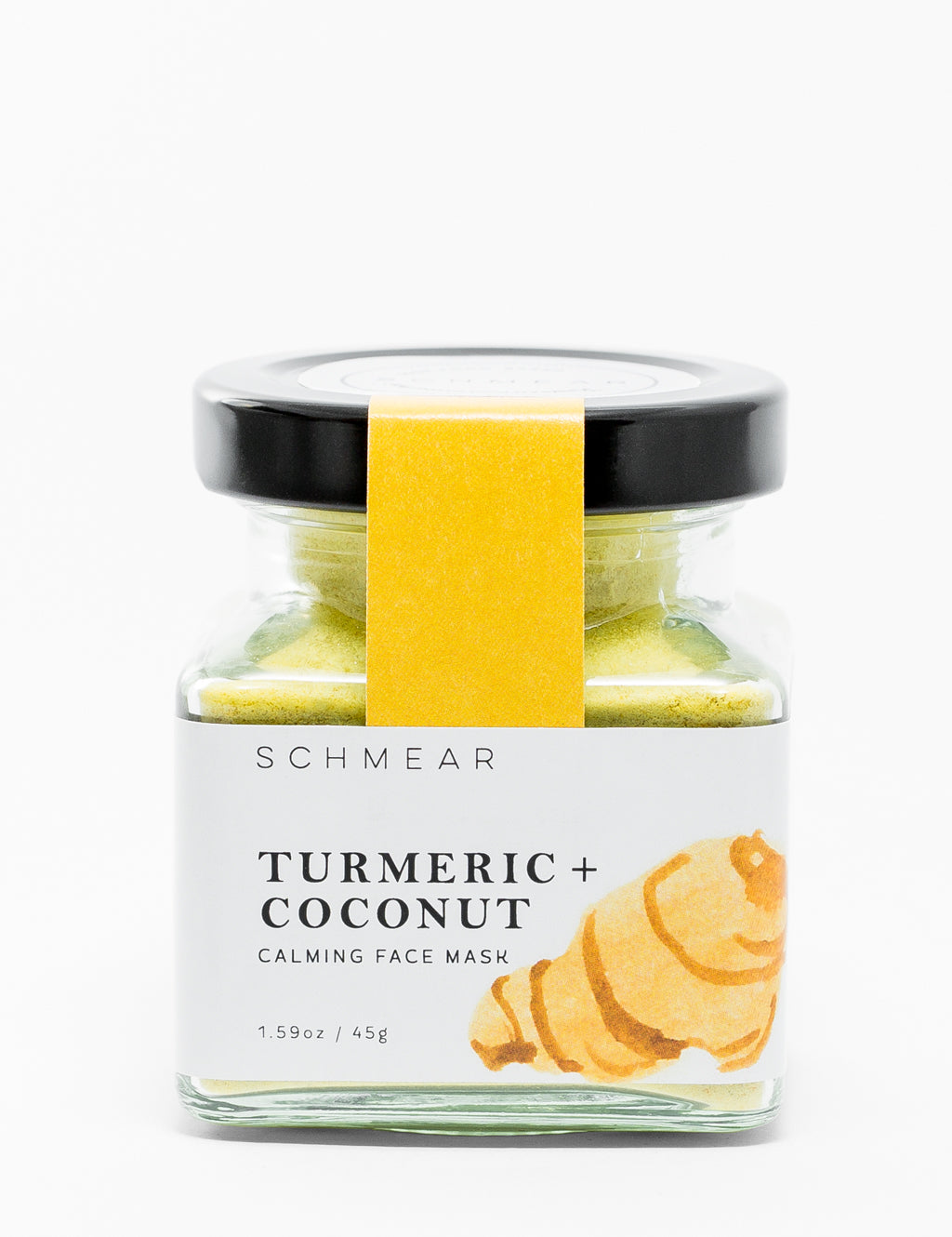 Schmear Naturals Turmeric and Coconut Calming Face Mask Jar