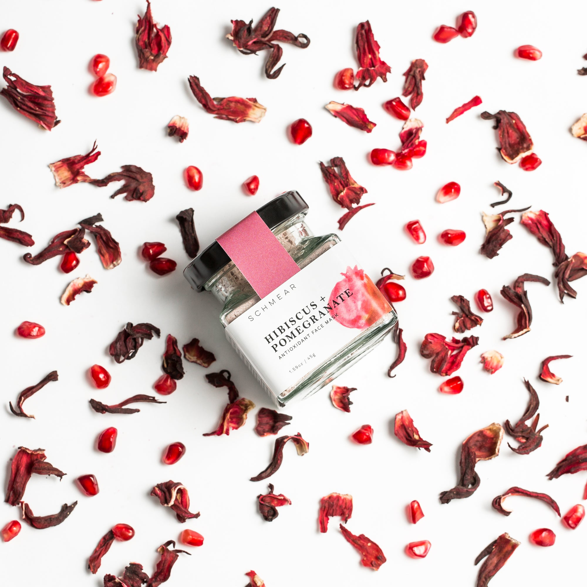 Brightening Face Mask Hibiscus Pomegranate