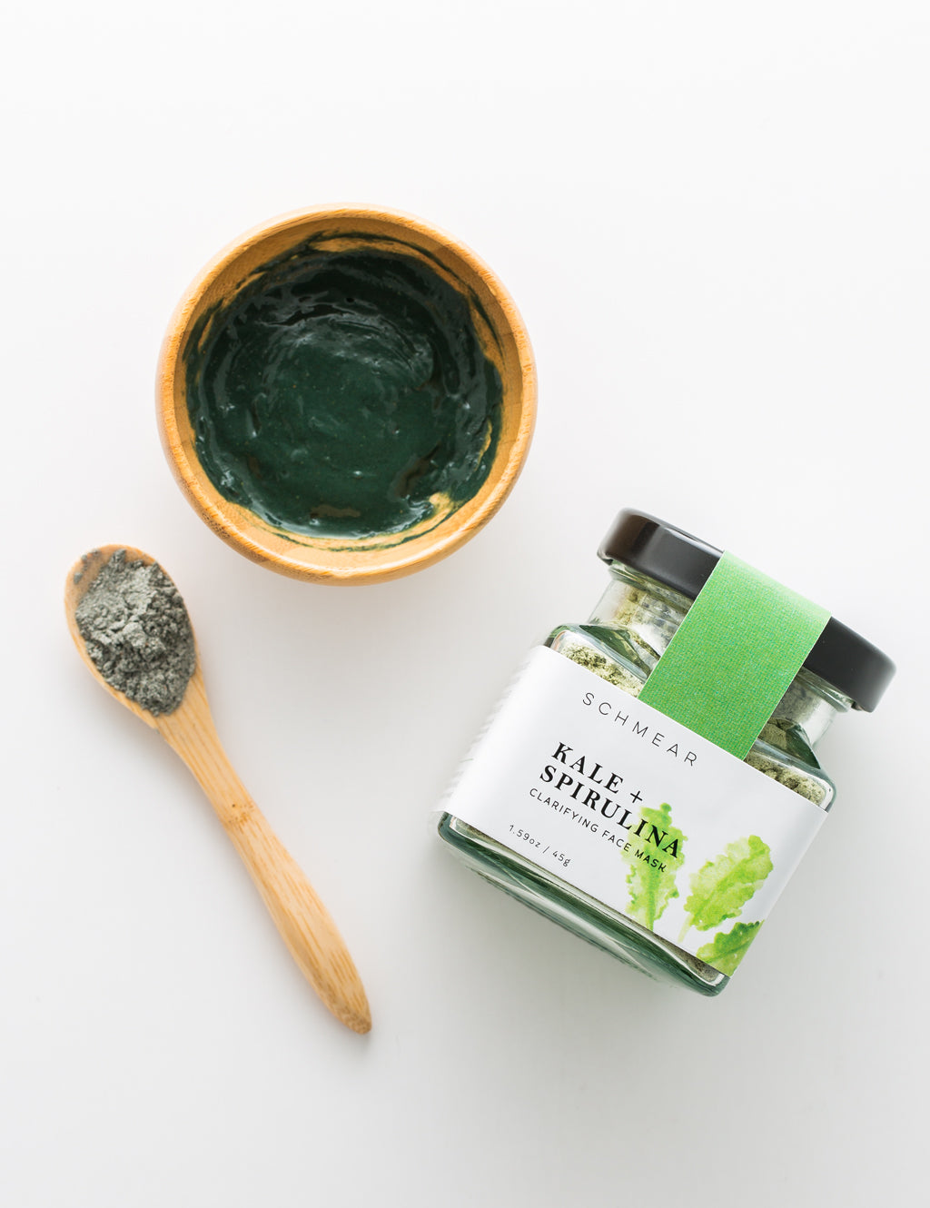 Chlorophyll Face Mask with Bamboo Bowl