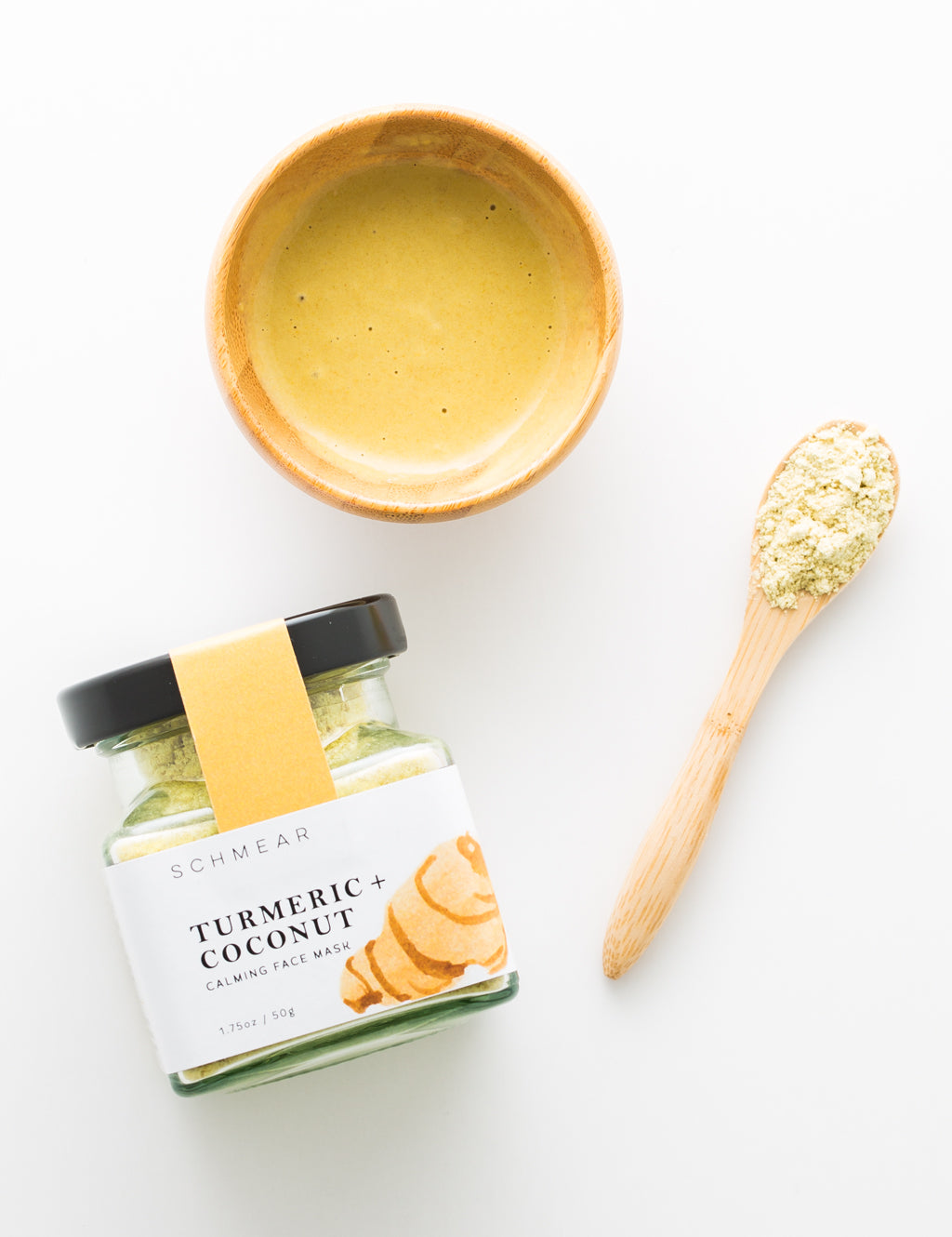 SCHMEAR Naturals Turmeric Coconut Face Mask Powder
