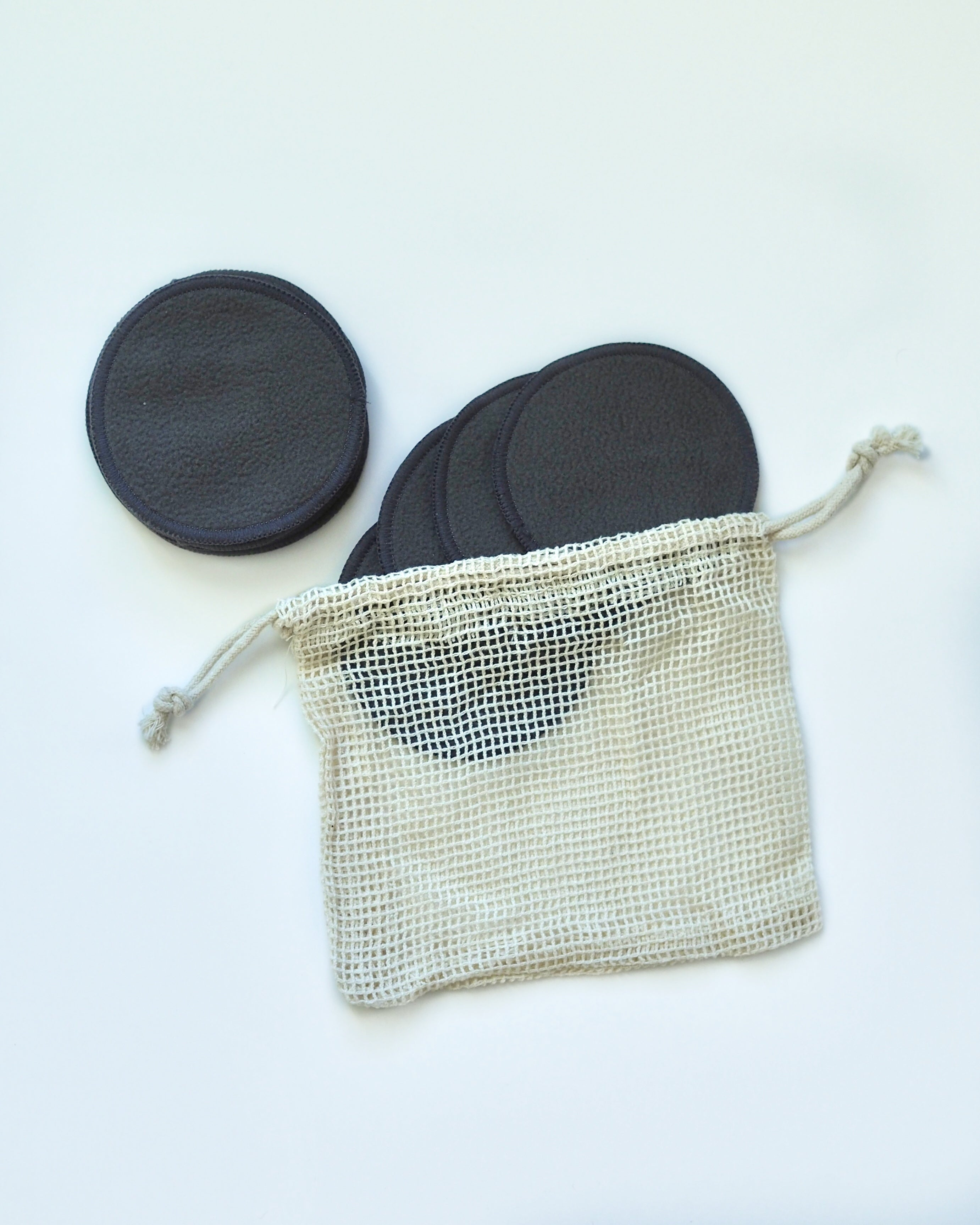 SCHMEAR Naturals Reusable Cotton Rounds with Mesh Wash Bag