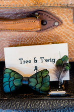 Load image into Gallery viewer, Feather Bow Tie - Pine