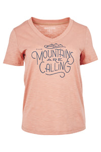 Mountains are Calling S/S  Graphic V-Neck