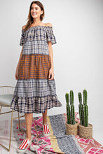 Load image into Gallery viewer, Plaid Midi Dress