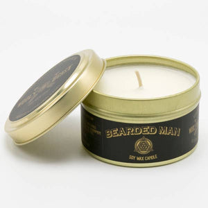 Bearded Man Soy Candle