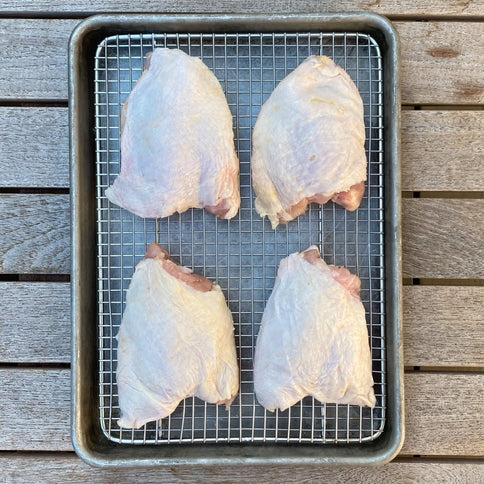 Pasture Raised Bone-in Skin-on Chicken Thighs