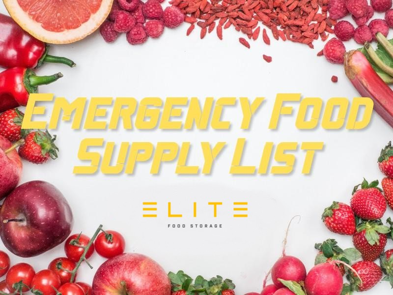 12 Tips For Your Emergency Food Supply List