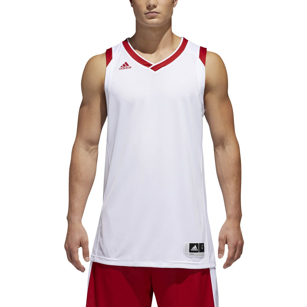 adidas Crazy Explosive Basketball Jersey | White-Red | Men's