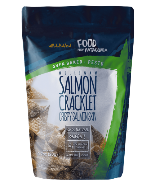 SALMON CRACKLET PESTO WILLIWAW 20 G