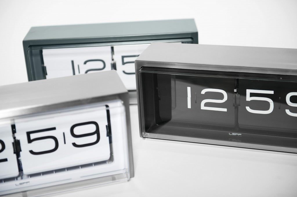 ... Vintage U0027Bricku0027 Steel Flip Clock (black ... Home Design Ideas