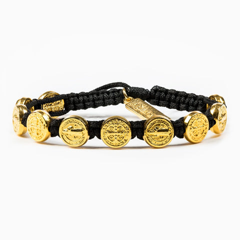 Benedictine Blessing Bracelet with Gold Medallions