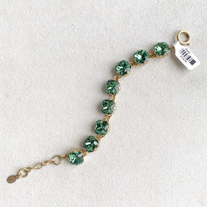 12mm Large Stone Crystal Bracelet in Marine