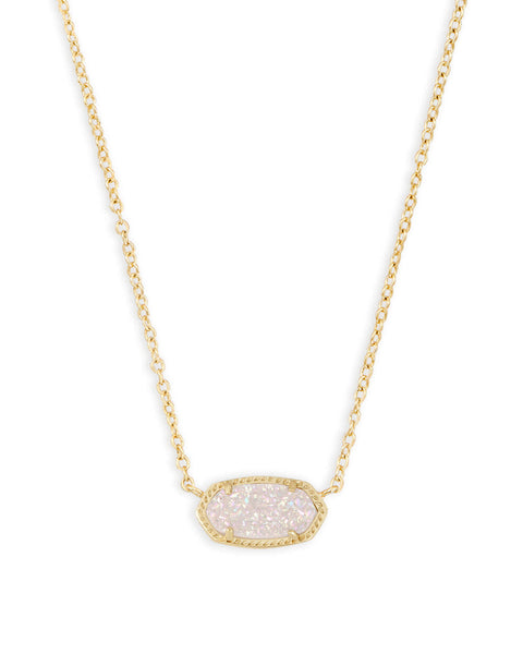 Elisa Gold Pendant Necklace (Drusy)