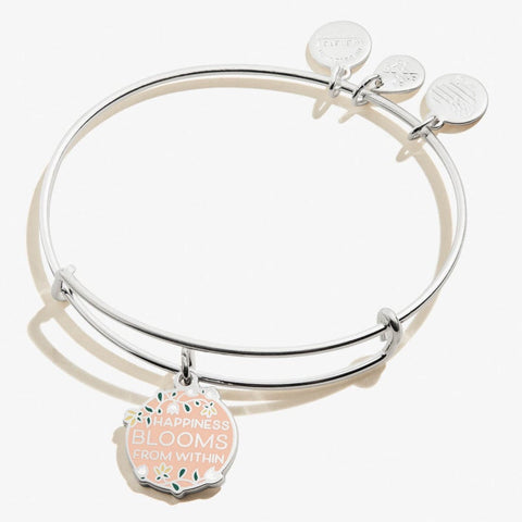 Happiness Blooms From Within Color Infusion Charm Bangle