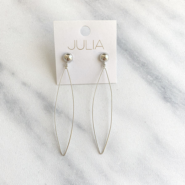 Thin Oval Earrings