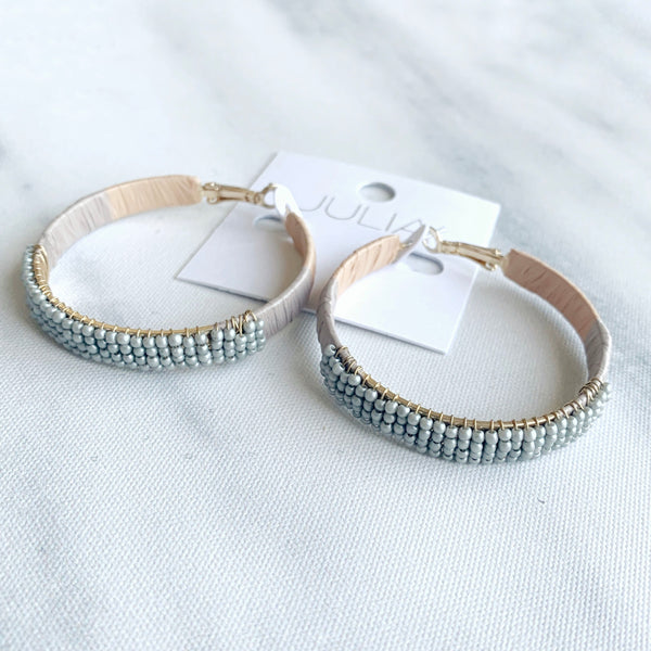 Landry Beaded Accent Hoops
